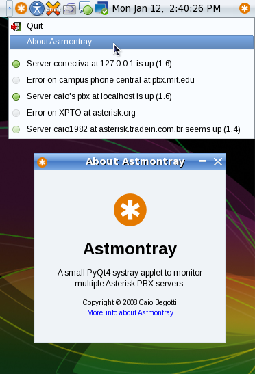 Astmontray for Linux
